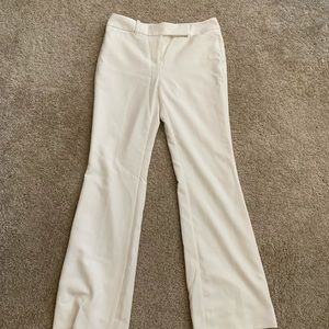 WHBM cream lined trousers - NWOT